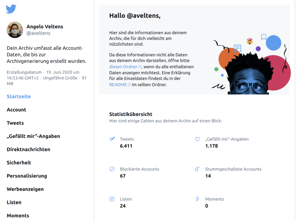 HTML Twitter-Archiv im Solid Pod